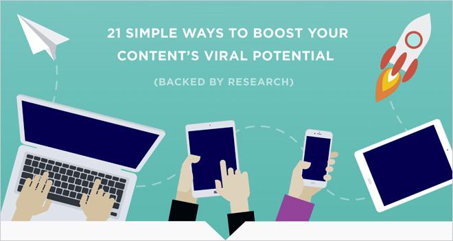 #Infografía 21 formas sencillas de aumentar el potencial viral de tu contenido