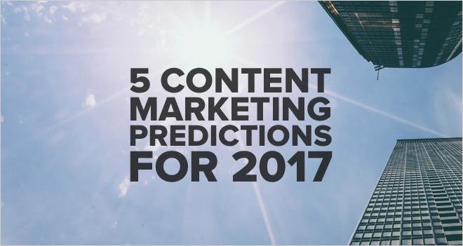 5 predicciones sobre el marketing de contenidos para 2017