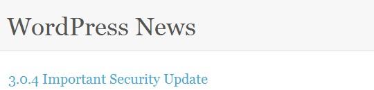 WordPress: de la versión 3.0.3 a la 3.0.4