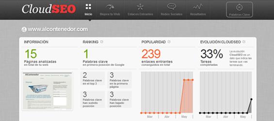 Lanzamiento de CloudSEO, la aplicación que mejora tu posicionamiento web