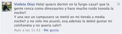 Mensaje Facebook Violeta