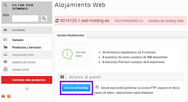 acceso-hosting-multidominio-hostalia