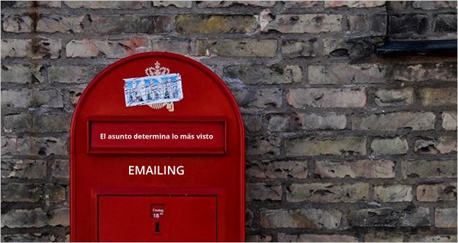 El asunto determina lo más clicado de un emailing