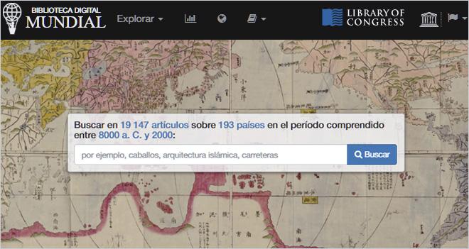 ? Descubre la Biblioteca digital mundial ?
