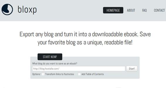 ¡Convierte tu blog en un eBook con Bloxp!