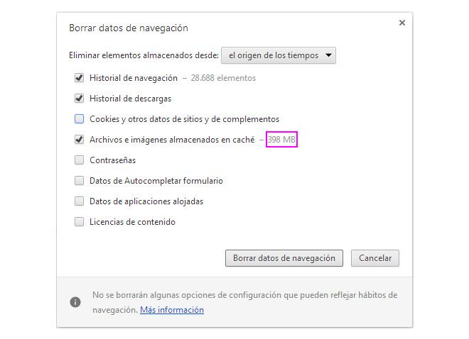 borrar-cache-datos-navegacion-acelerar-chrome-blog-hostalia-hosting