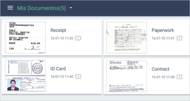 Escanea tus documentos en pdf y jpg con CamScanner
