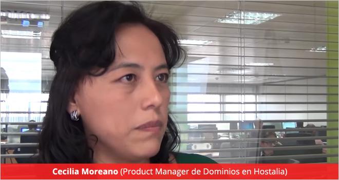 """""""Un dominio personaliza nuestro espacio en internet y define nuestra presencia en la Red"""", Cecilia Moreano (Hostalia)"""