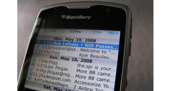 Cómo configurar el correo electrónico en tu móvil con distintos sistemas operativos: BlackBerry (OS)