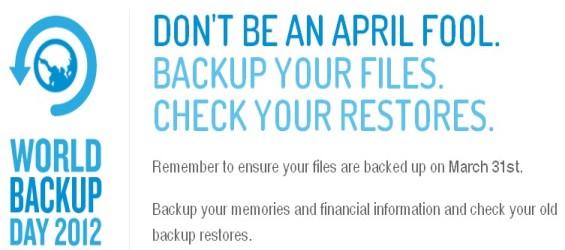31 de marzo, Día Mundial del Backup