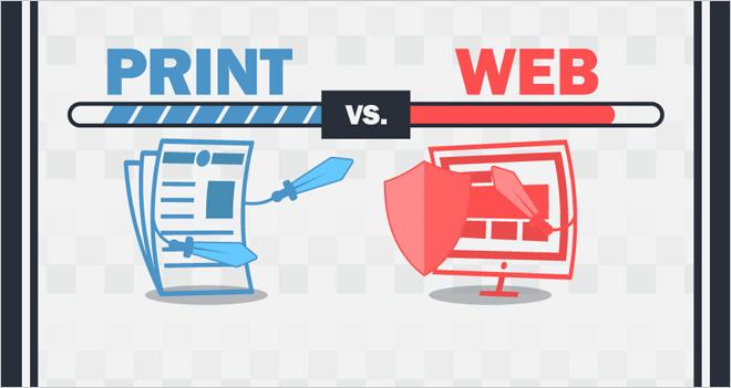 #Infografía Diseño offline vs. Online. ¿Qué les hace diferente?