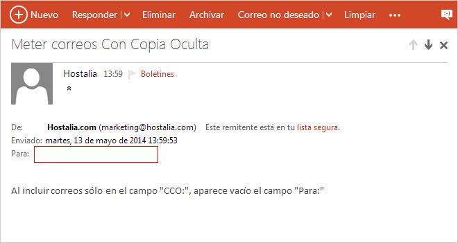 Una solución de Email Marketing es más elegante para enviar un correo a varios destinatarios que hacerlo Con Copia Oculta