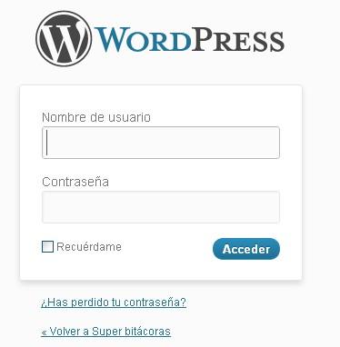 formulario logueo - blog hostalia hosting