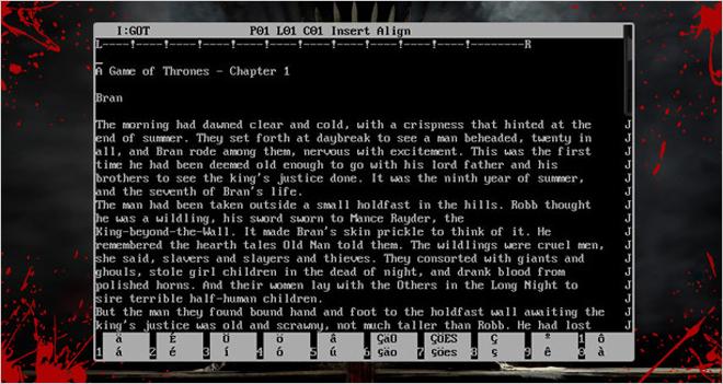 ¡El autor de 'Juego de Tronos' escribe en MS-DOS! Le mostramos a George R.R. Martin apps para trabajar sin distracciones