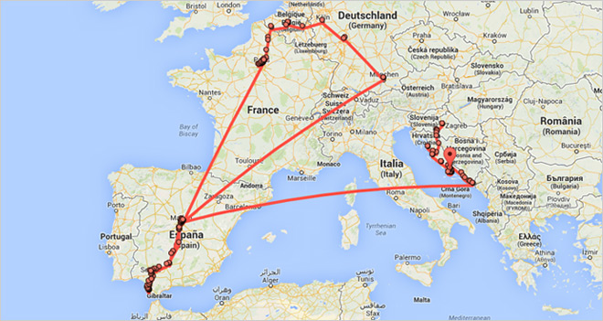 Location History, un mapa que te muestra por dónde estás cada día