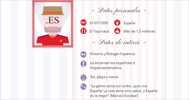 El 52% de los dominios que se registran en España son .es (1.767.415)