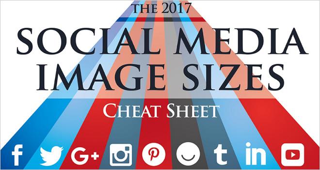 #Infografía Las medidas para las imágenes en redes sociales (2017)