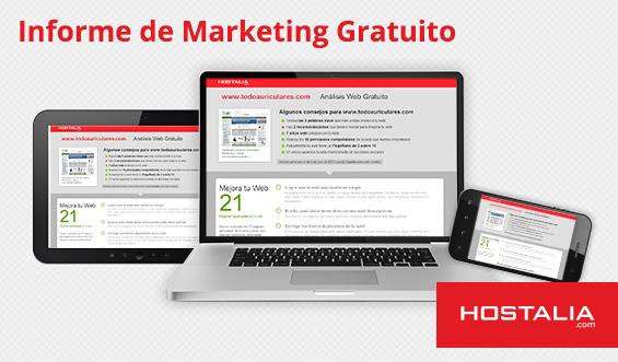 Haz el informe de marketing SEO gratuito para analizar tu posicionamiento web