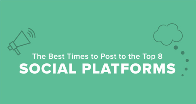 #Infografía La mejor hora para publicar en las 8 Redes Sociales más importantes