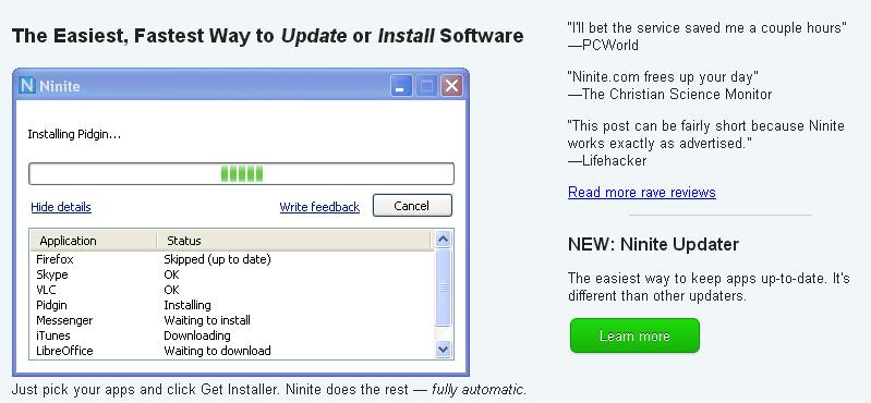 ninite crear instalador de aplicaciones - blog hostalia hosting