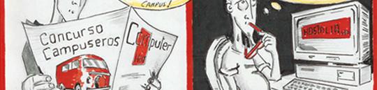 Hostalia y el cómic 'Los #campuseros en busca de alojamiento (nocturno… ;)'