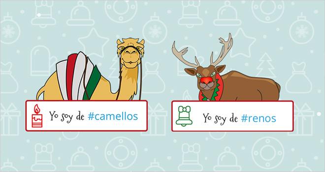 Seas de renos o de camellos, felicita la Navidad con una simpática animación desde tu web