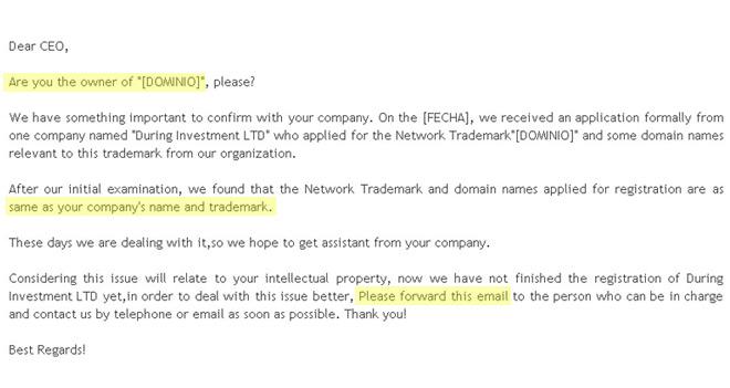 White Paper: SCAM, fraudes en la gestión de los dominios