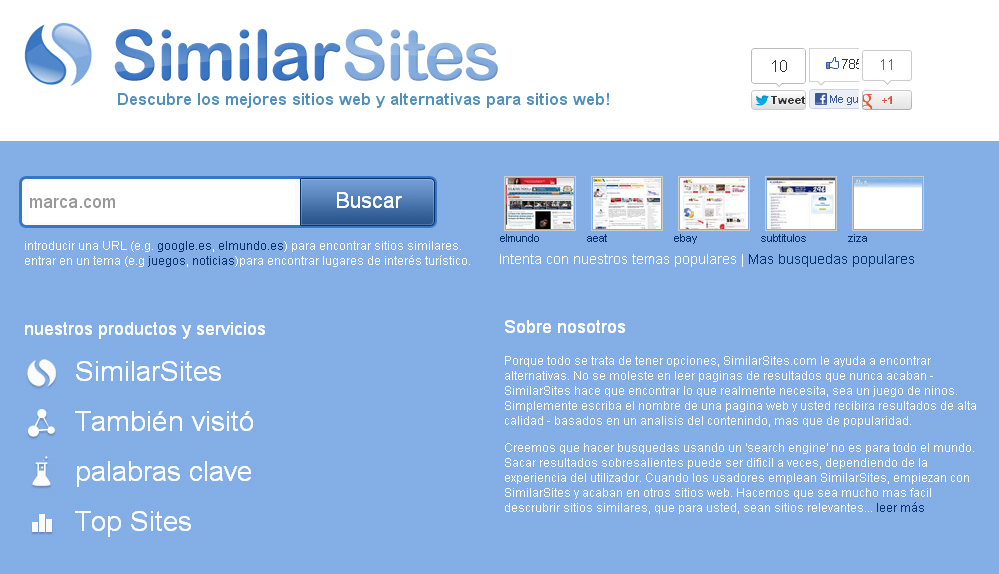 similar sites - blog hostalia hosting