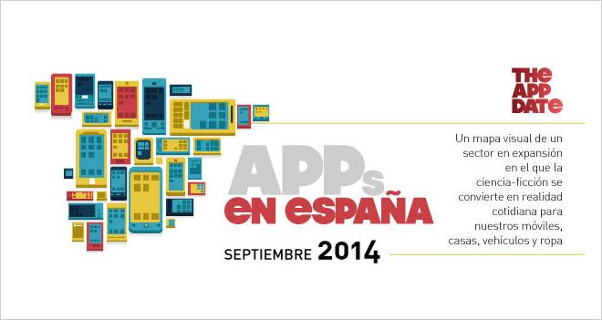 Infografía de las apps en España 2014: locos por la mensajería