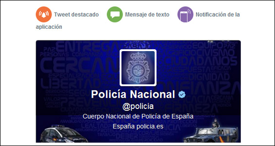 Twitter Alerts: recibe alertas de la @Policia en tu móvil