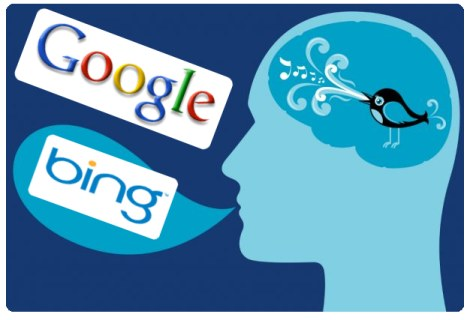google y bing buscar en twitter - blog hostalia hosting