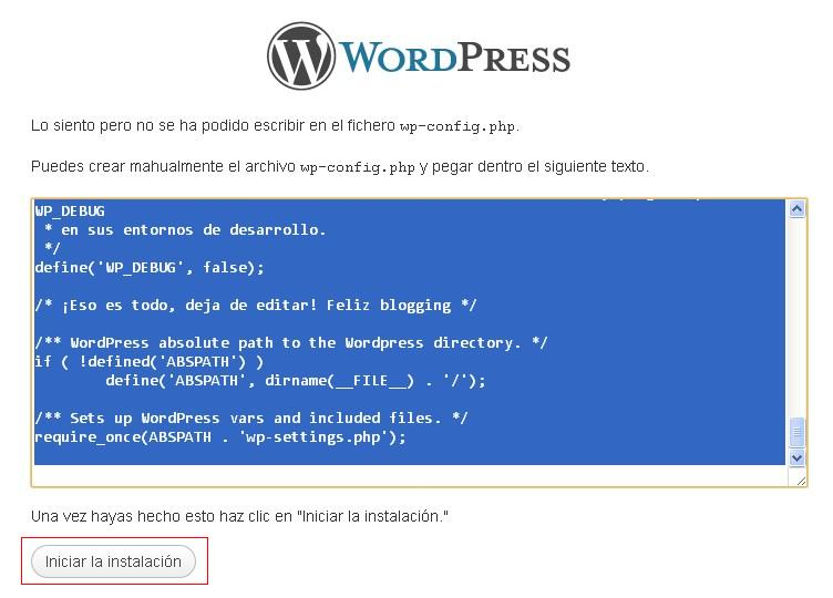 codigo fichero configuracion - blog hostalia hosting