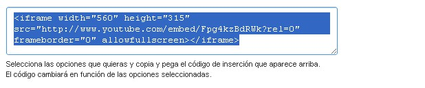 código insercion vídeo - blog hostalia hosting