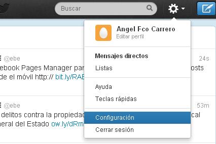 configuracion twitter - blog hostalia hosting
