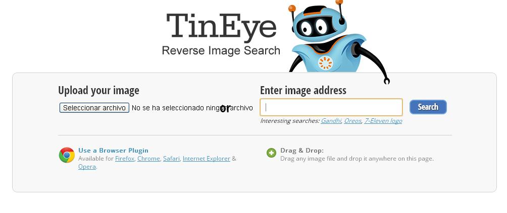 tineye busca imagenes - blog hostalia hosting