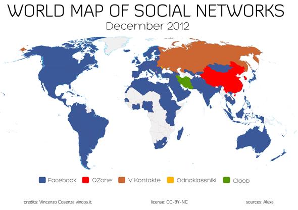mapa redes sociales diciembre 2012 - blog hostalia hosting