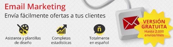 Email Marketing. Envía fácilmente ofertas a tus clientes