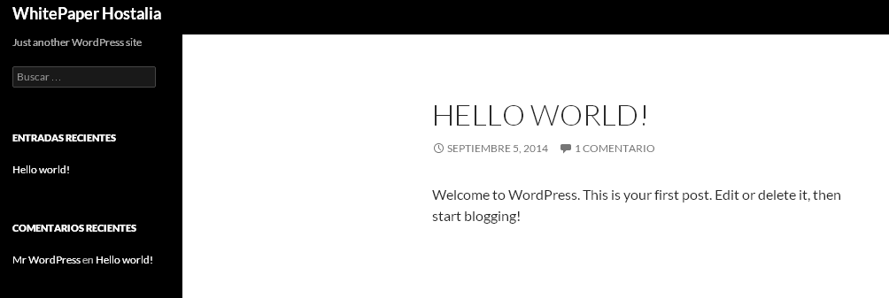 hello-word-wordpress-hostalia-hosting