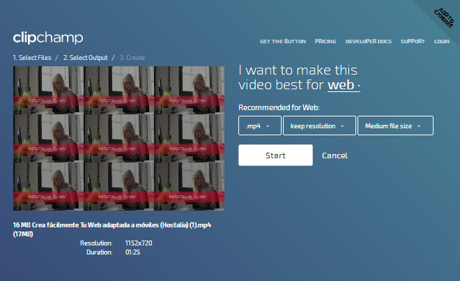 clipchamp-comprimir-vídeos-blog-hostalia-hosting