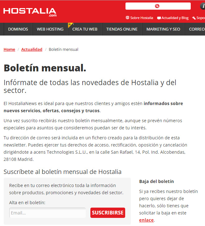 boletin-mensual-hostalianews-checklist-email-perfecto-blog-hostalia-hosting