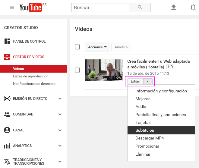 Cómo Transcribir Automáticamente Un Vídeo Para Incluirlo En La Descripción De Youtube Y Mejorar Tu Seo Blog Hostalia