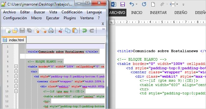 Copiar código de programación de Notepad++ y pegarlo en Word respetando los colores