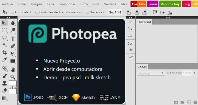 Photopea, la mejor alternativa online y gratuita a Photoshop (abre archivos .psd)
