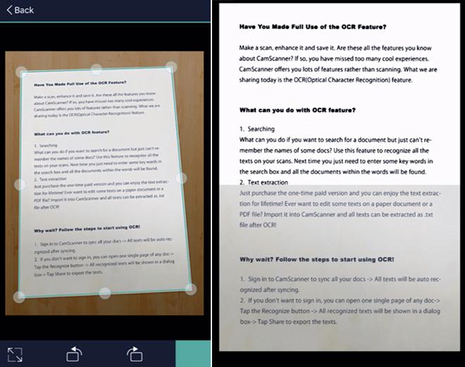 Escanea tus documentos en pdf y jpg con CamScanner « Blog