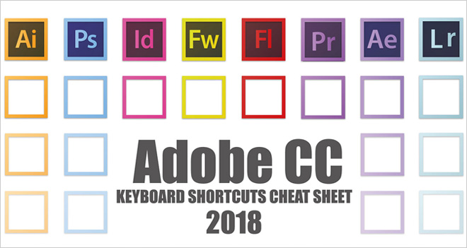 Atajos de teclado para Adobe CC (Windows y MacOS): Photoshop, Illustrator, InDesign… #Infografía