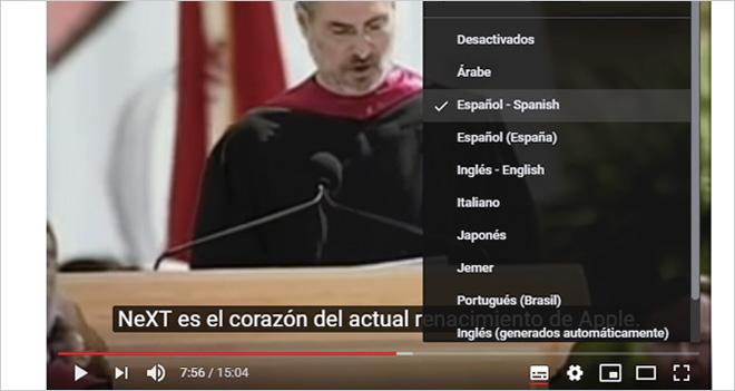 Forzar la activación de subtítulos en vídeos de YouTube