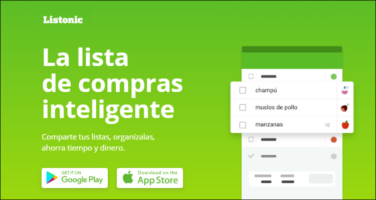 Listonic, app de lista de compras con orden alfabético y por categorías #DoctorHosting