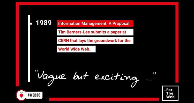 """Tim Berners-Lee celebra el 30º aniversario de la WWW: """"Necesitamos tu ayuda para construir una mejor Web"""""""