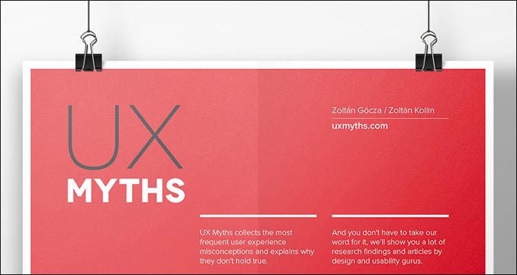 34 mitos sobre diseño UX #Infografía